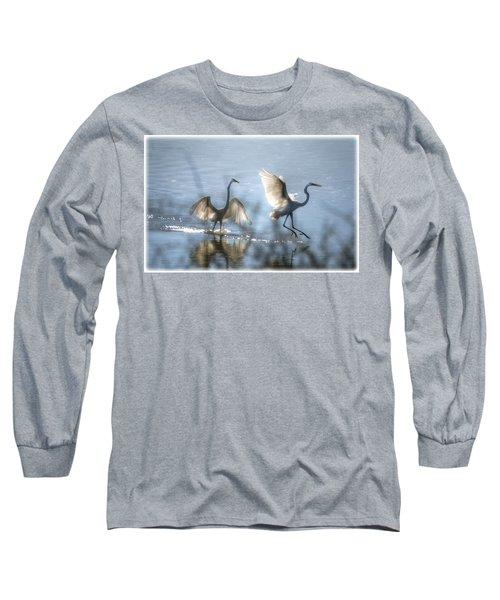 Water Ballet  Long Sleeve T-Shirt by Saija  Lehtonen