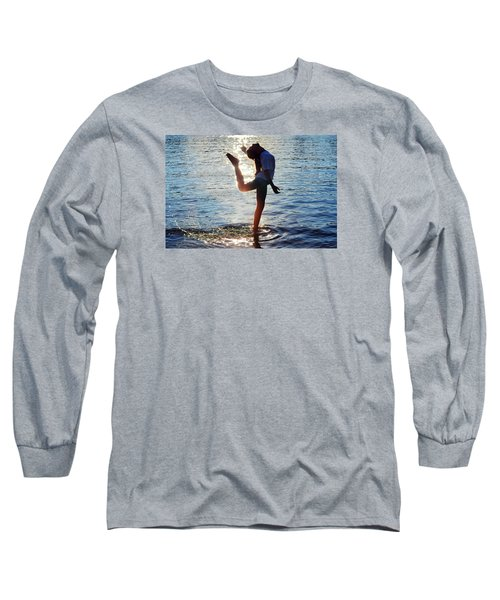 Water Dancer Long Sleeve T-Shirt by Laura Fasulo