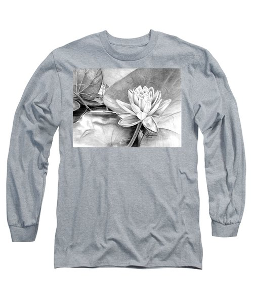 Water Lilly Long Sleeve T-Shirt by Laurianna Taylor