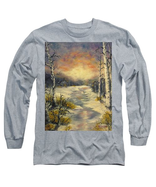Long Sleeve T-Shirt featuring the painting Water Music  by Megan Walsh