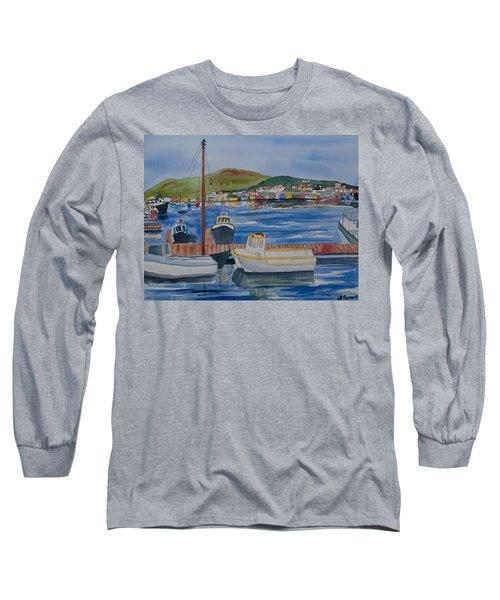 Watercolor - Dingle Ireland Long Sleeve T-Shirt