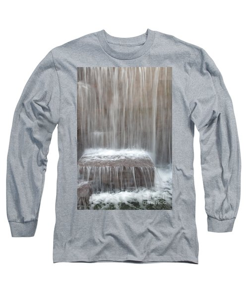 Waterfall At The Fdr Memorial In Washington Dc Long Sleeve T-Shirt