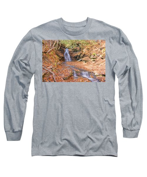 Waterfall In The Fall Long Sleeve T-Shirt