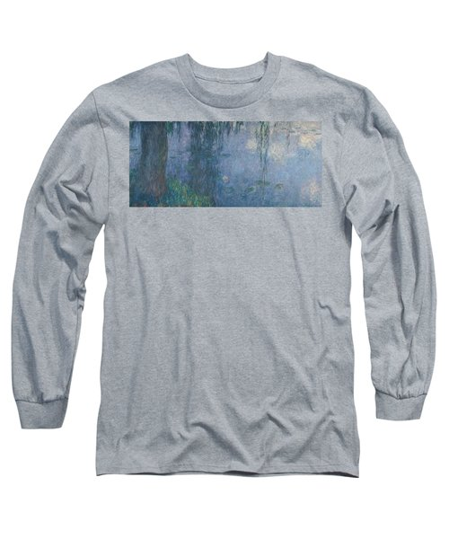 12da0d309e Waterlilies Morning With Weeping Willows Long Sleeve T-Shirt