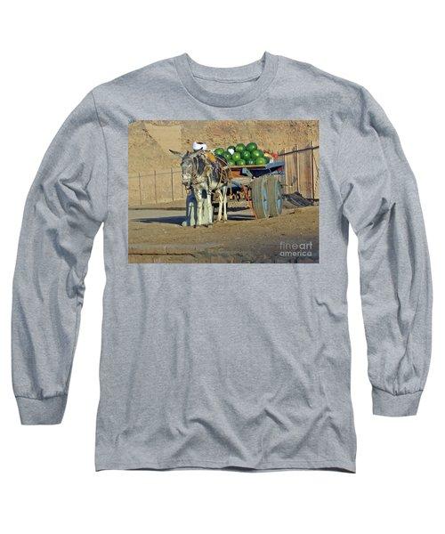 Watermellon Cart Karnac Egypt Long Sleeve T-Shirt