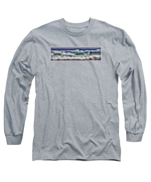 Abstract Waves 15 Long Sleeve T-Shirt by Walt Foegelle