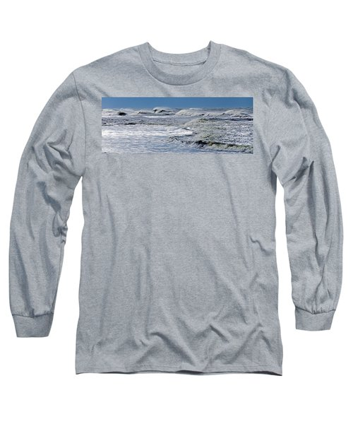 Waves Off Sandfiddler Rd Corolla Nc Long Sleeve T-Shirt by Greg Reed