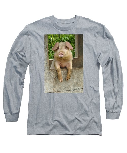 Well Hello There Long Sleeve T-Shirt by Bob Christopher