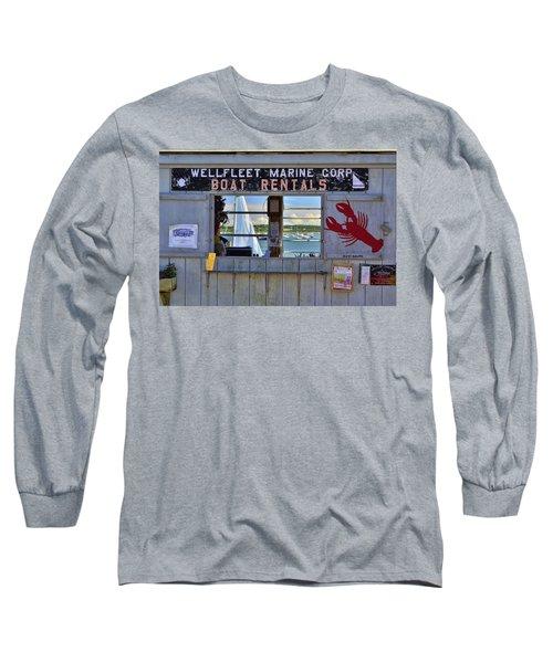 Wellfleet Harbor Thru The Window Long Sleeve T-Shirt by Allen Beatty