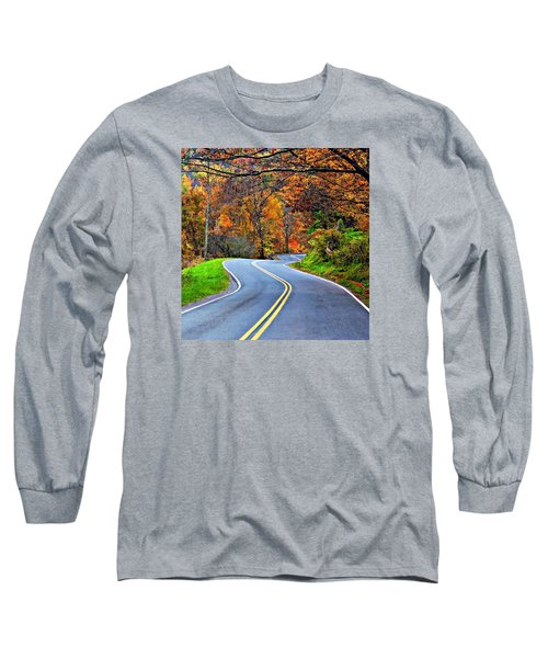 West Virginia Curves 2 Long Sleeve T-Shirt by Steve Harrington
