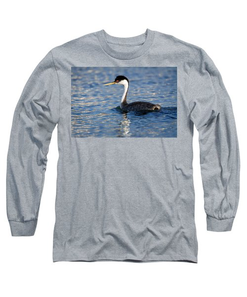 Long Sleeve T-Shirt featuring the photograph Western Grebe by Jack Bell