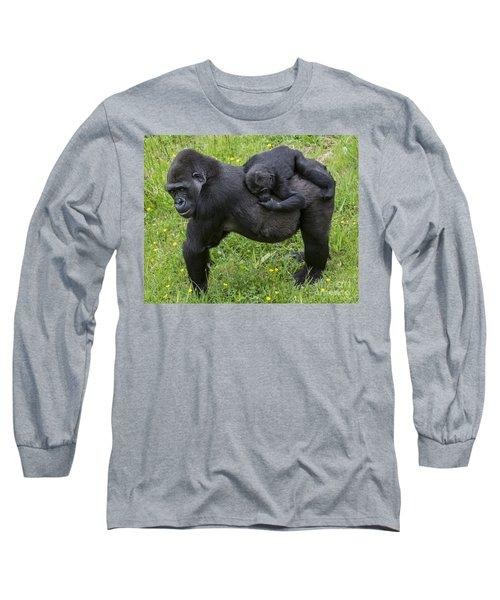 Western Lowland Gorilla 2 Long Sleeve T-Shirt