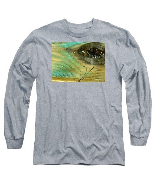 Whale Eye Long Sleeve T-Shirt by Michael Cinnamond