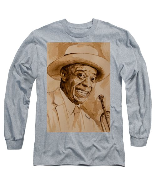 Long Sleeve T-Shirt featuring the painting What A Wonderful World by Laur Iduc