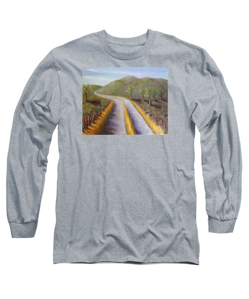 Autumn Road Long Sleeve T-Shirt by Laurie Morgan