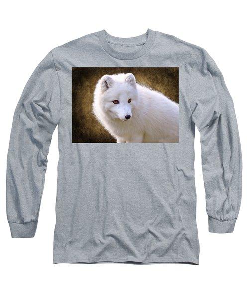White Arctic Fox Long Sleeve T-Shirt