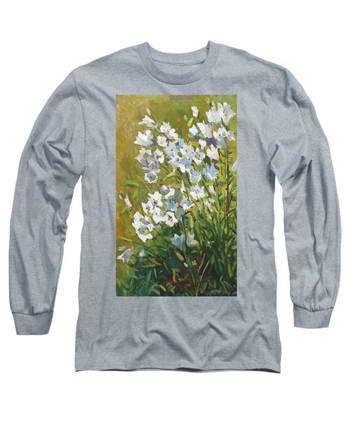 White Campanulas Long Sleeve T-Shirt