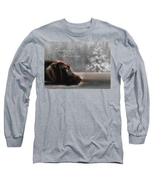 White Christmas Long Sleeve T-Shirt by Lori Deiter