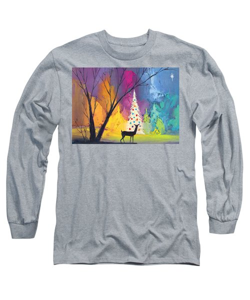 White Christmas Tree Long Sleeve T-Shirt