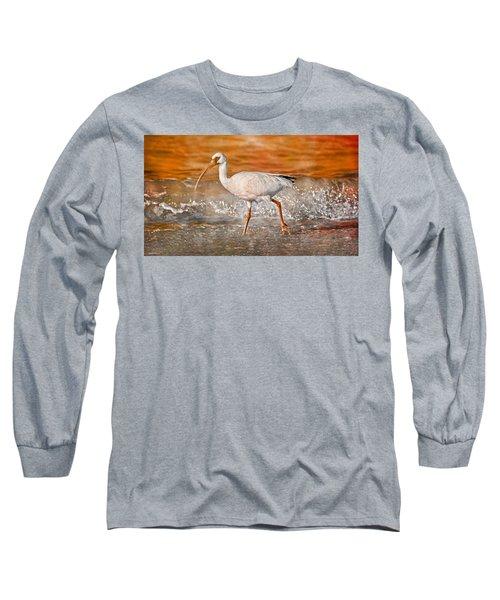 White Ibis Stroll Long Sleeve T-Shirt