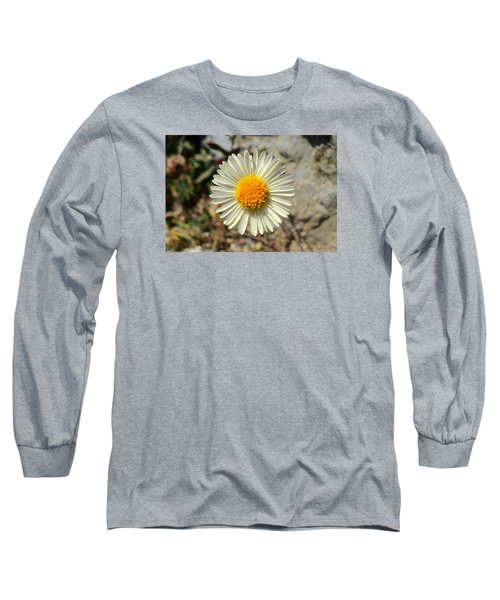 White Wild Flower Long Sleeve T-Shirt