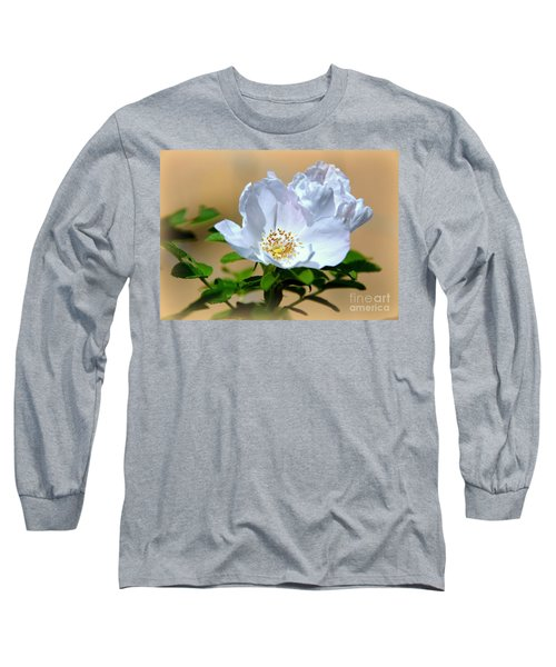 White Tea Rose Long Sleeve T-Shirt