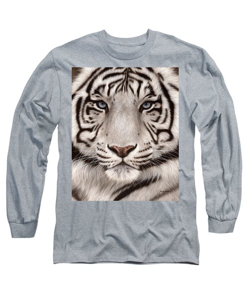 White Tiger Painting Long Sleeve T-Shirt