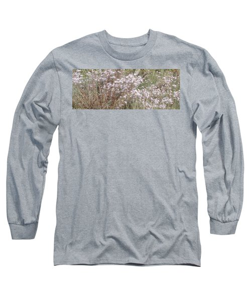 Long Sleeve T-Shirt featuring the photograph White Wild Flowers by Fortunate Findings Shirley Dickerson