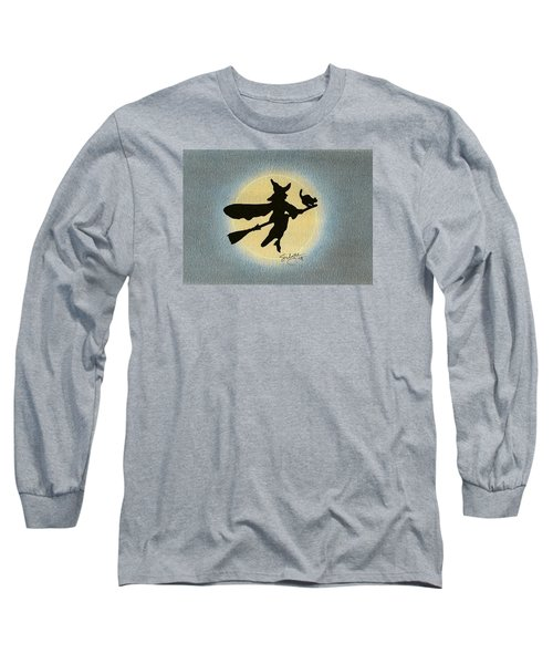 Long Sleeve T-Shirt featuring the drawing Wicked by Troy Levesque