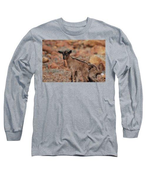 Wild Baby Goat Long Sleeve T-Shirt by DejaVu Designs