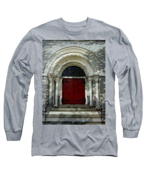Long Sleeve T-Shirt featuring the photograph Winchester Church by Joseph Skompski