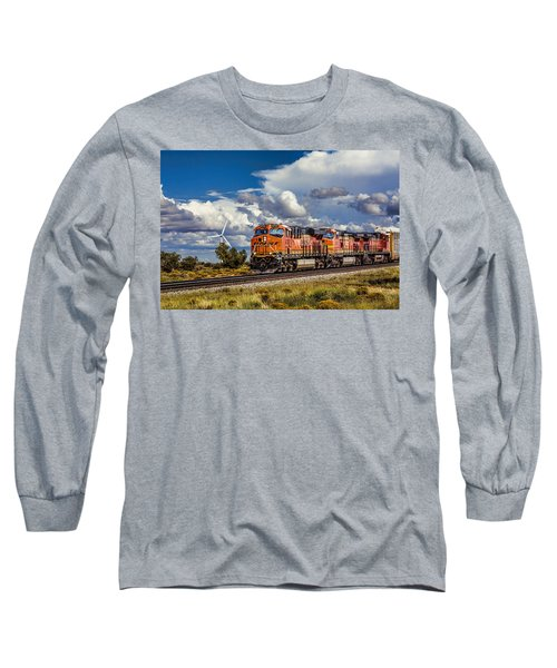 Wind And Rail Long Sleeve T-Shirt by Fred Larson