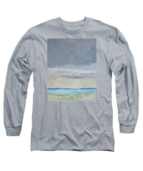 Wind And Rain On The Bay Long Sleeve T-Shirt by Gail Kent