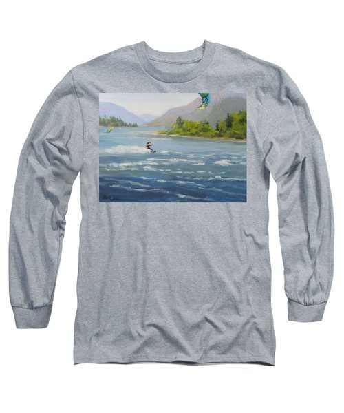 Long Sleeve T-Shirt featuring the painting Wind And Water by Karen Ilari