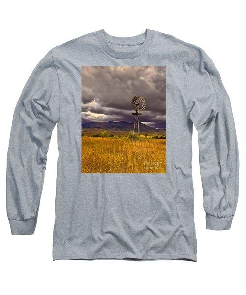 Windmill Long Sleeve T-Shirt by Robert Bales