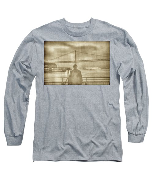 window self-portrait Embarcadero San Francisco Long Sleeve T-Shirt