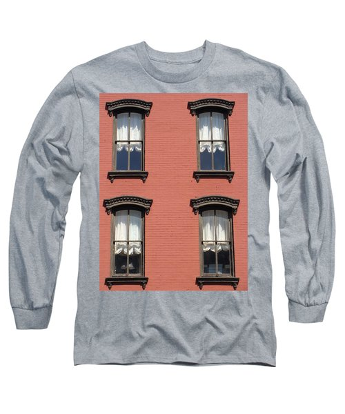 Long Sleeve T-Shirt featuring the photograph Window's Of Hudson Ny by Ira Shander