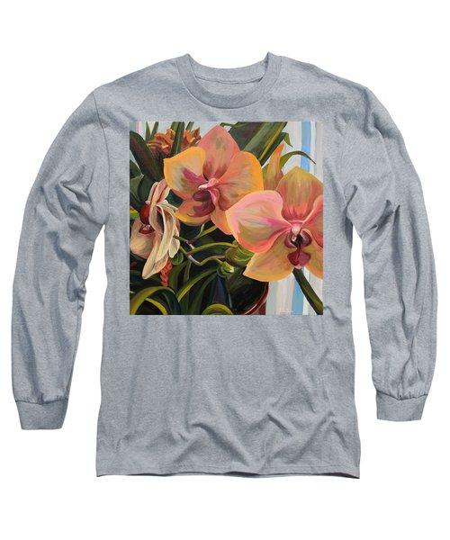 Windowsill Orchids Long Sleeve T-Shirt