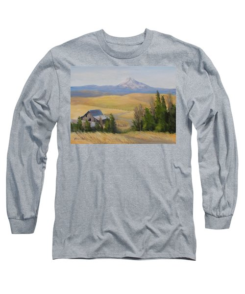 Long Sleeve T-Shirt featuring the painting Windswept by Karen Ilari