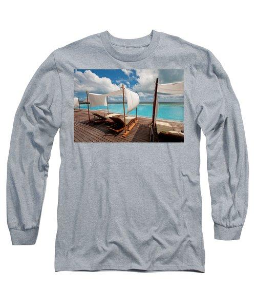 Windy Day At Maldives Long Sleeve T-Shirt