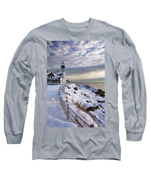 Winter At Portland Head Long Sleeve T-Shirt