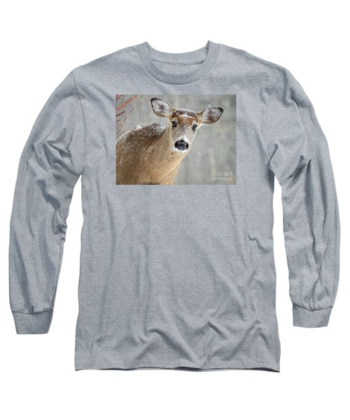 Winter Buck Long Sleeve T-Shirt by Amy Porter