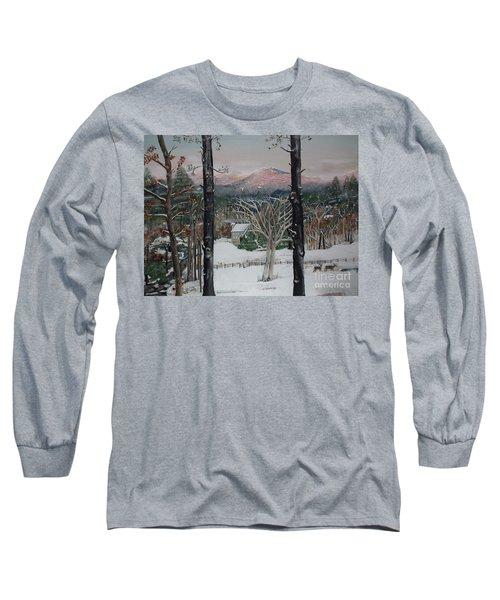 Winter - Cabin - Pink Knob Long Sleeve T-Shirt