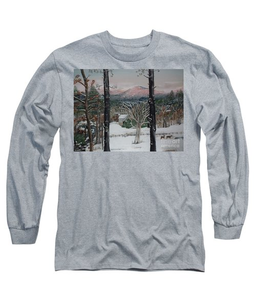 Winter - Cabin - Pink Knob Long Sleeve T-Shirt