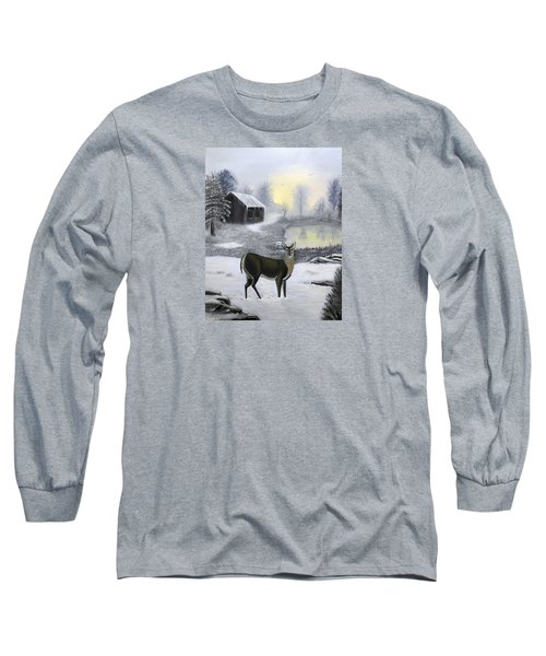 Winter Doe Long Sleeve T-Shirt by Sheri Keith