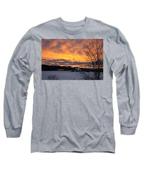 Winter Fire Long Sleeve T-Shirt by Jim Brage