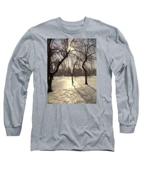 Willows In Winter Long Sleeve T-Shirt by Henryk Gorecki