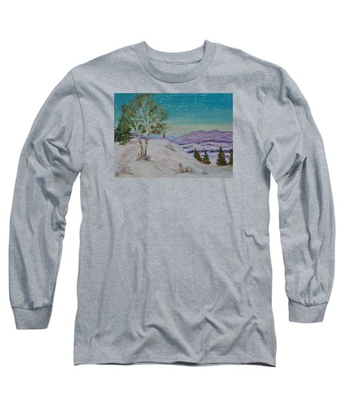 Winter Mountains With Hare Long Sleeve T-Shirt