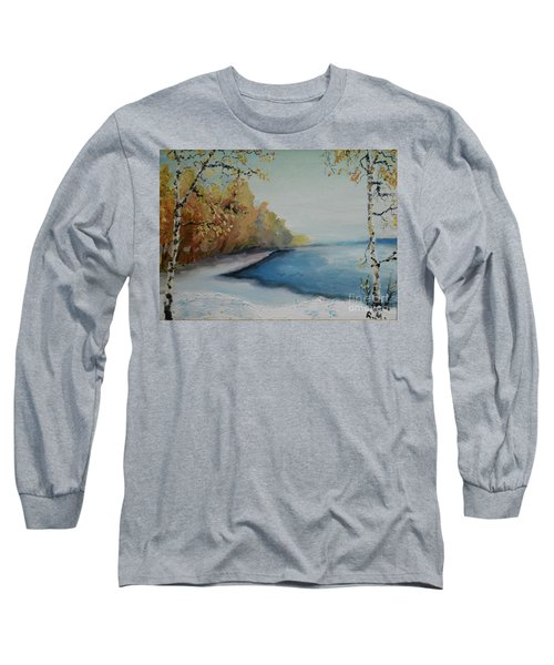 Winter Starts At Kymi River Long Sleeve T-Shirt