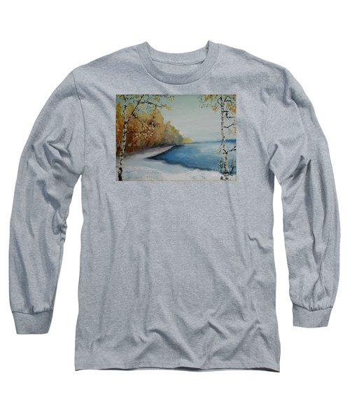 Winter Starts At Kymi River Long Sleeve T-Shirt